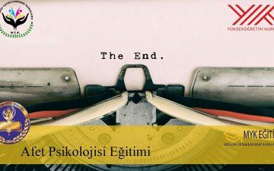 Afet Psikolojisi Eğitimi