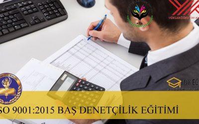 ISO 9001:2015 Kalite Baş Denetçilik Eğitimi