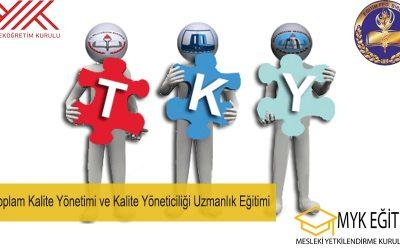 Toplam Kalite Yönetimi ve Kalite Yöneticiliği Uzmanlık Eğitimi