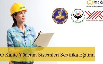 ISO 9001 Kalite Yönetim Sistemi Eğitimi – İç Denetçilik 9 Sertifika
