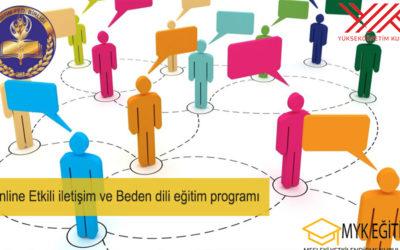 Online Etkili iletişim ve Beden dili eğitim programı