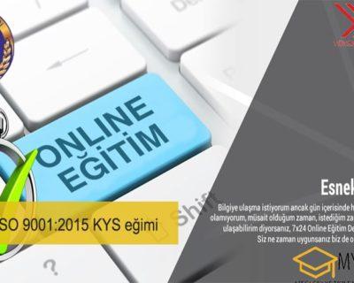 Online İSO 9001:2015 KYS eğimi