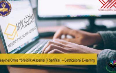 Profesyonel Online Yöneticilik Akademisi Certificational E-learning